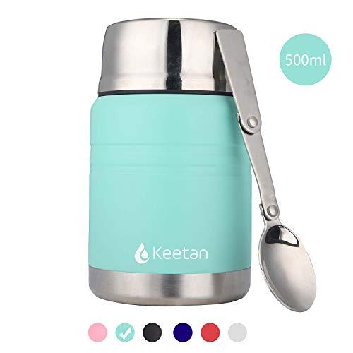 Keetan vuoto isolato barattolo per alimenti acciaio inossidabile lunch thermos boccetta acciaio con un cucchiaio pieghevole