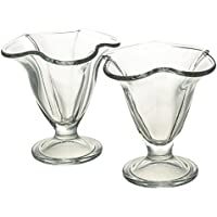 Pasabahce Petra Set of 6 Ice Cream Bowls-Macedonia Cl.21 Fund 95729-Assorted