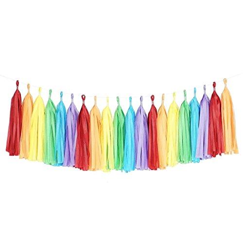 ssue-Papier Tassle Garland Dekoration, 2m, Parteien, Veranstaltungen, Hochzeiten Dekorative Papier Tassles (1 x 2 m) ()