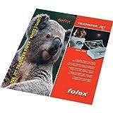 Bramacartuchos Carta a trasferimento termico, per magliette di cotone bianche, per stampanti HP, Canon, Brother, Epson, 10 fogli
