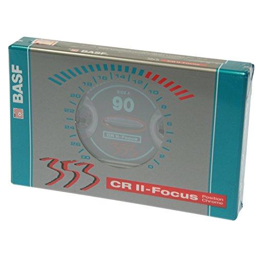 EMTEC BASF CRII-FOCUS 90 - Cinta de audio cassettes de 90 minutos Position Chrome (3 unidades)