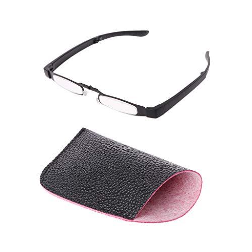 oukerst Pocket Metal Unisex Faltbare Lesebrille Faltbrillen Brillen Presbyopie-Lesegeräte +1 +1.5 +2 +2.5 +3 +3.5 +4.0