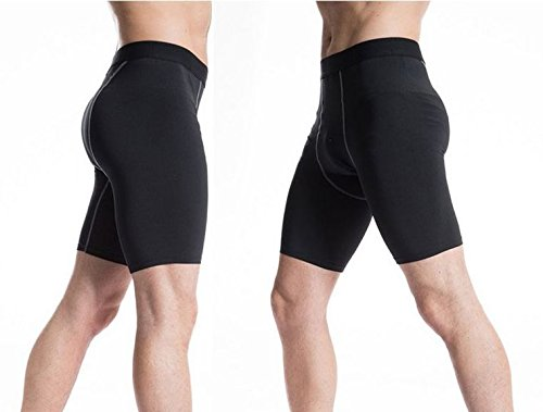 add-gear cycling shorts compression skin half tights base layer non-padded unisex shorts plain black Add-gear Cycling Shorts Compression Skin Half Tights base layer non-padded unisex shorts Plain Black 41ysGAlx 2B L
