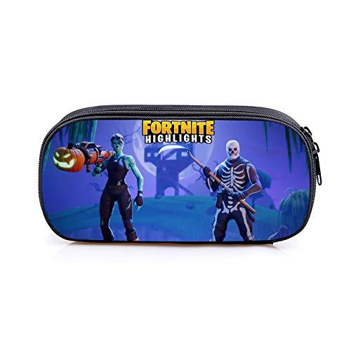 remycoo Fortnite–Neceser, nuevo Fortnite Battle Royale gran capacidad bolsa de lápiz caja de lápices escolar oficina escuela niños Beau regalo, color azul