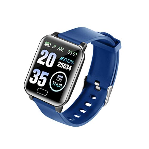 Hffan Smart Watch Mode-Farbbildschirm Herzfrequenz Smart Armband Fitness Tracker Schrittzähler Schlaf Monitor Band Bluetooth-Kamera Smart Information Schieben Herren Damen Sportuhr