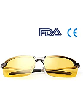 Mejores gafas de conducción nocturna | Lentes de visión nocturna HD Yellow Polarized Night Glasses - Ideal para...