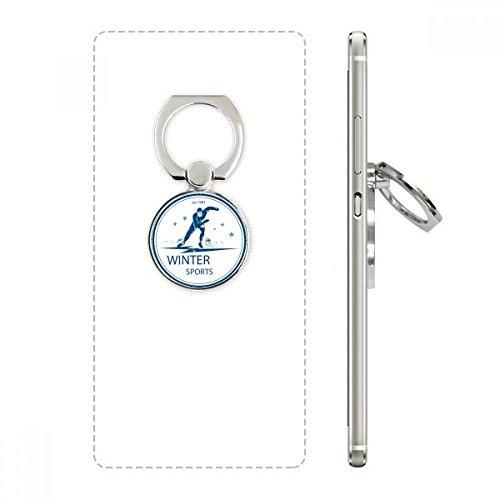 DIYthinker Wintersport Skianzug und Stiefel Muster-Handy-Ring Ständer Halter Halterung Universal-Smartphones Unterstützung Geschenk (Stiefel Unterstützung Winter)