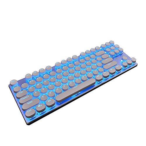 GCCLCF Steampunk Tastatur mechanische Tastatur Esport Gaming-Tastatur 87-Taste grüne Achse