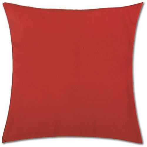 Kissenhülle ( 100 Größen und Farben ) mit und ohne Füllkissen, Serie: Ellen, Kissenbezug Dekokissen, Auswahl: 50x50cm mit Füllung rot - kaminrot