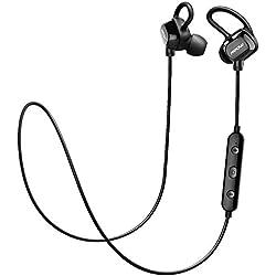 Auriculares Inalámbricos Deportivos, Mpow Auricular Cascos Bluetooth 4.1, Headphone In-ear con Technología y Cancelación del Ruido de CVC6.0 para Runing Correr Hacer Deporte Compatible con Appe iPhone 7 6s 6 Huawei Samsung Bq Android Movil