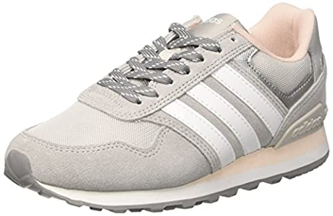 adidas 10K Casual, Baskets Basses Femme, Gris (Grey Two/Footwear White/Icey Pink), 41 1/3 EU