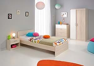 Matelpro-Chambre enfant contemporaine acacia/blanc Comix