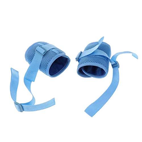 Rollstuhl fußstütze Handgelenk Arm Knöchel Hand Rückhaltegurt, Gliedmaßen Fixierte Gurtbänder zur Fixierung von kratzfesten Patienten - Handgelenk Rückhaltegurt, 1 Paar (größe : Wrist) (Arme Rollstuhl)