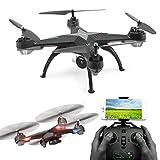 WMWHALE RC Drone Mini WiFi FPV avec caméra HD 2.4G 4CH RC Quadcopter Une Touche pour revenir en Mode sans tête à 360 degrés Rouleau hélicoptère RC pour Les Enfants Cadeaux,Black2.0MP