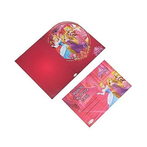 Disney Princess Invitations Cards & envelopes- Pink (Pack of 10)  available at amazon for Rs.89