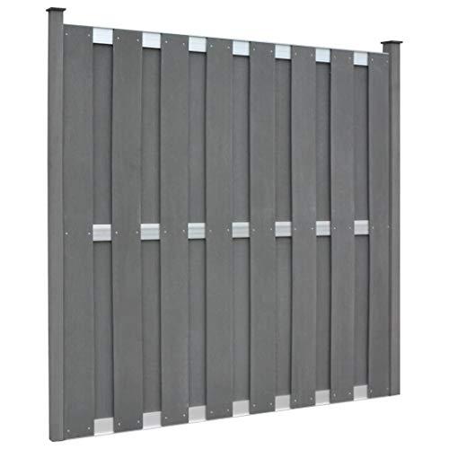 *Tidyard- WPC-Zaunelement mit 2 Pfosten 180 x 180 cm Quadratisch Sichtschutz Garten Sichtschutzzaun*