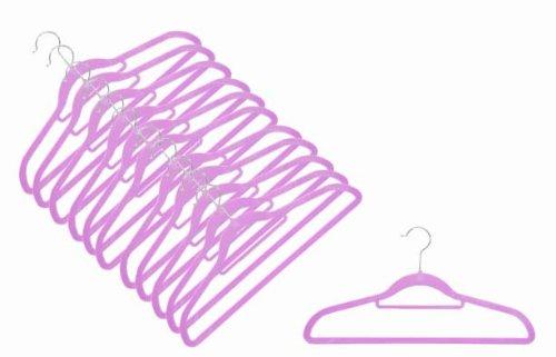 Magic Bügel (12 x Raumspar- und Anti-Rutsch Magic Kleiderbügel Smart in LAVENDEL)