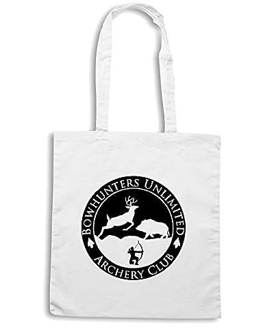 T-Shirtshock - Sac shopping FUN0853 bow hunters unlimited circular decal sticker 22350, Taille Capacita 10 litri