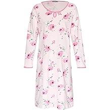 68f926ec147efa Moonline Nachthemd Damen Schlafhemd aus 100% Baumwolle Gr. M L XL XXL