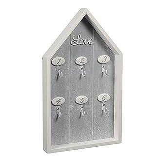 Ambiente Haus Schlüsselbrett Schlüsselboard Holz Weiß Love 83823 Schlüsselkasten Vintage Shabby Chic Landhaus