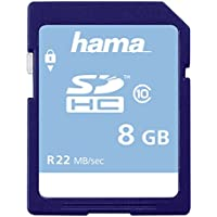 Hama Speicherkarte SDHC 8GB (SD-2.0 Standard, Class 10, High Speed, Datensicherheit dank mechanischem Schreibschutz, Beschriftungsfeld)