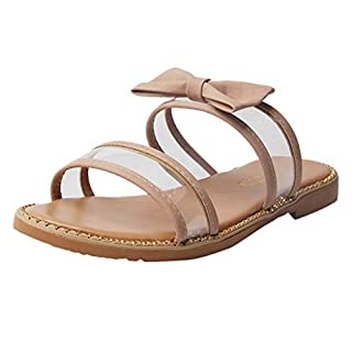 ✦HappyQn✦ Women's Slippers,Summer Roman Flat Sandals with Butterfly_Prints Casual Open Toe Beach Shoes Slippers Slip Pink