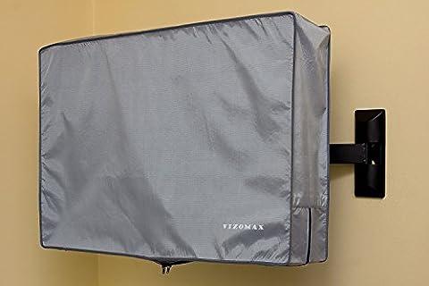 58, 60, 65 pouces Vizomax tous temps TV Housse - Housse de télévision pour usage intérieur ou extérieur . TV Protecteur résistante à l'eau et à la poussière - pour écrans LCD, LED et Plasma Haute Définition - TV