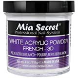 Mia Secret White Acrylic Nail Powder 3D - French - 4 oz Bottle -MADE IN USA