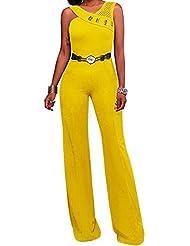 GWCSS De Alto Grado De Metal Cinturón Halter Sexy Pantalones Siameses , Xl