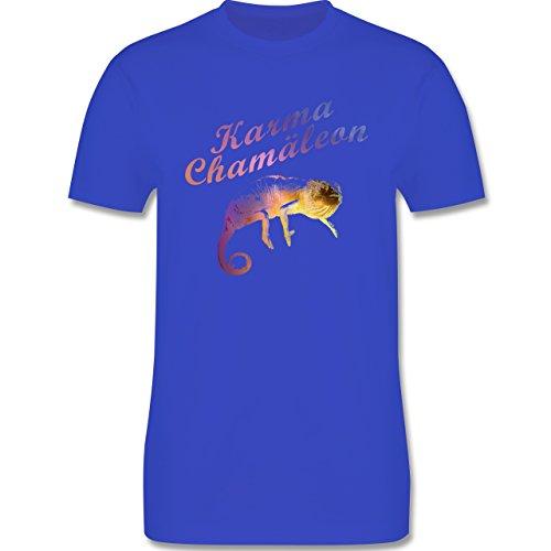Statement Shirts - Karma Chamäleon - Herren Premium T-Shirt Royalblau