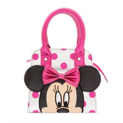 Official Disney, sac à main Minnie Mouse pour enfants - argent et rose