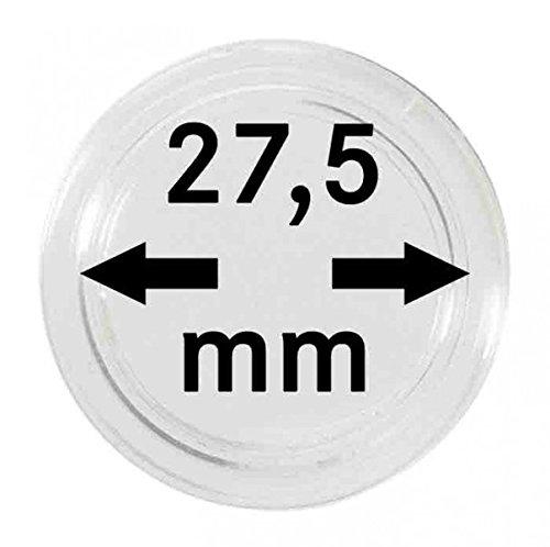 Preisvergleich Produktbild 100 Münzkapseln 27,5mm für 5 Euro Münze Planet Erde, blauer Planet