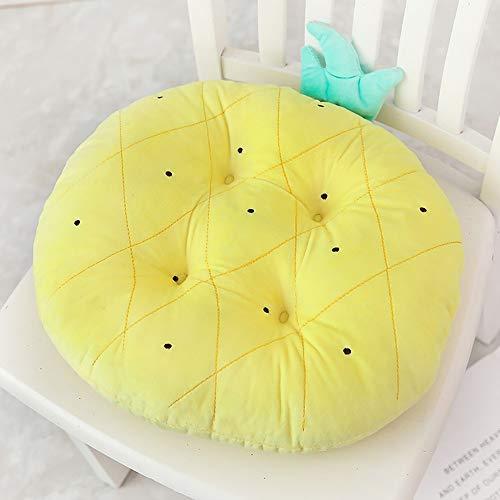 LOHOX 2er Set Stuhlkissen Sitzkissen Sitzpolster Auflage Creative 3 d Früchte Kissen für Lehnend auf der Persönlichkeit Wassermelone Plüsch Spielzeug Kissen auf Couch Kissen - 40 * 40CM