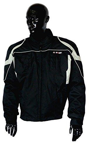 Scoter-motor (KED SOAR Motorradjacke Taifun black/silver, matt, Größe L, sportlich-elegante Jacke aus Teslan & Cordur)