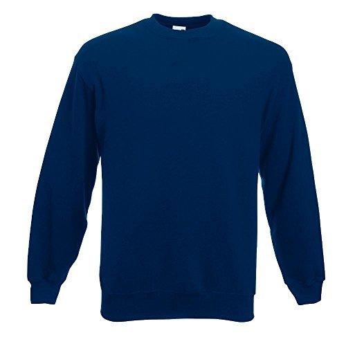 Fruit of the Loom - Sweatshirt 'Set-In' M,Navy (Blau Herren Sweatshirt)