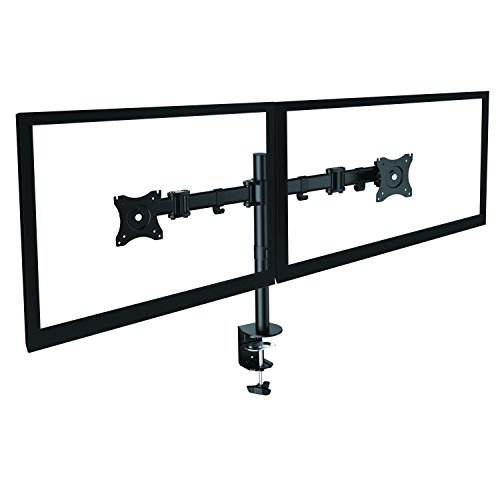 """neigbar schwenkbar Tischständer Tischhalterung für 2 ZWEI Monitoren, DUAL Monitor Ständer Halterung für HP passt zur 10"""" 11"""" 12"""" 13"""" 14"""" 15"""" 16"""" 17"""" 18"""" 19"""" 20"""" 21"""" 21,5"""" 22"""" 23"""" 23,6"""" 24"""" 25"""" 26"""" 27"""" 28"""" 29"""" 30"""" Zoll LED LCD 3D UHD TFT Monitoren, VESA 75x75, 100x100"""