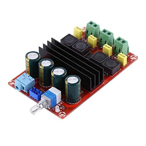 Akozon Scheda Amplificatore di Potenza Stereo Moduli Amplificatori di Potenza Audio Digitale a Doppio Canale 2 * 100W Audio Amplifier Board Module CC 12-24V
