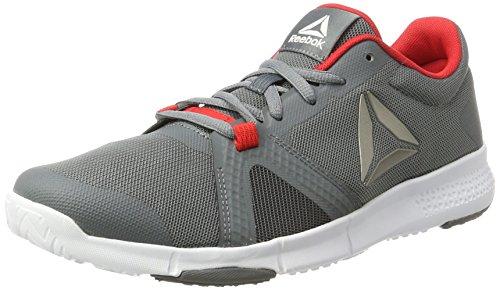 Reebok Trainflex Lite, Chaussures de Fitness Homme, Vert (Hero-Hunter Green/Multicolore Primal Red/Gris Coal/White), 43 EU