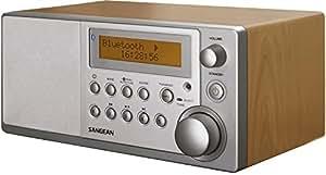 Sangean DDR 31bt Bluetooth radio table (DAB +, FM-RDS, AUX-in) noyer