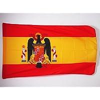 SPANISCHE ALT FLAGGE SPANIEN UNTER GENERAL FRANCO 1945-1977 45x30cm mit kordel