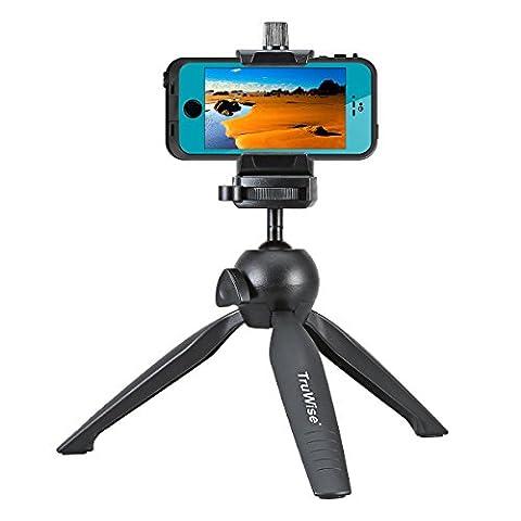 [Version mise à jour] Premium Mini trépied avec téléphone Mont, dessus de Table TruWise Stand – mieux pour Gopro, Smartphones et reflex numérique Nikon Canon Pentax Sony Olympus Panasonic etc.