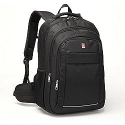 Coolbell 17.3 pouces Laptop Backpack Sac bandoulière Bagagerie / Voyage Multifonctionnel Unisexe Sac à main Tissu Oxford imperméable pour iPad / Macbook / Asus / Lenovo / Acer (Noir)