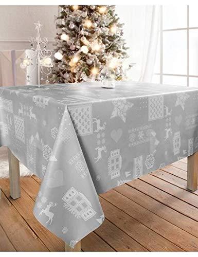 WJDhome - Mantel de navidad estampado con relieve