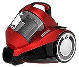 Dirt Devil DD2424-1 Rebel 34 Parkett Singlecyclone Staubsauger EEK A (700 W Hocheffizienzmotor, 1,8 L, HEPA Media Ausblasfilter, ohne Beutel) rot metallic
