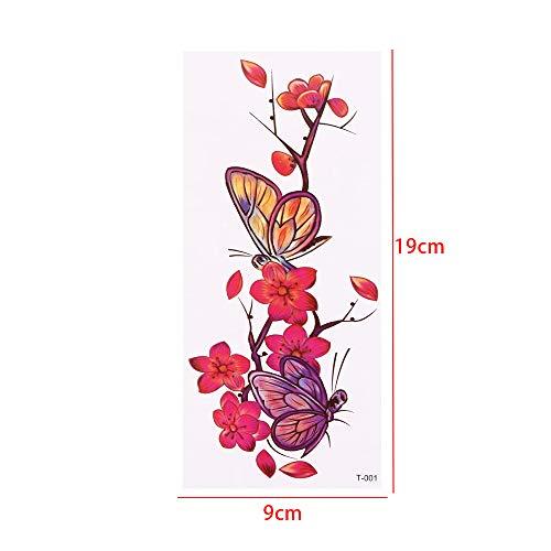 Handaxian autoadesivo femminile 3pcs-9 del fiore della spalla del braccio del tatuaggio del tatuaggio impermeabile realistico rosa 3pcs3d