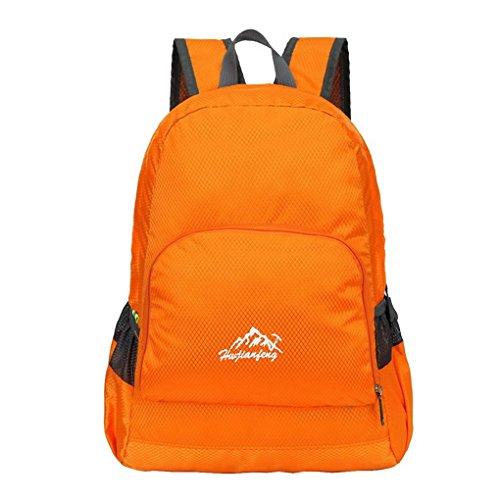 Ultra leggero da viaggio impermeabile escursionismo arrampicata campeggio Zaini Casual scuola borsa a tracolla per adolescenti e bambine arancia