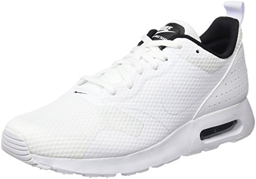 Nike Air Max Tavas, Baskets Basses Homme Blanc (White/white/black)