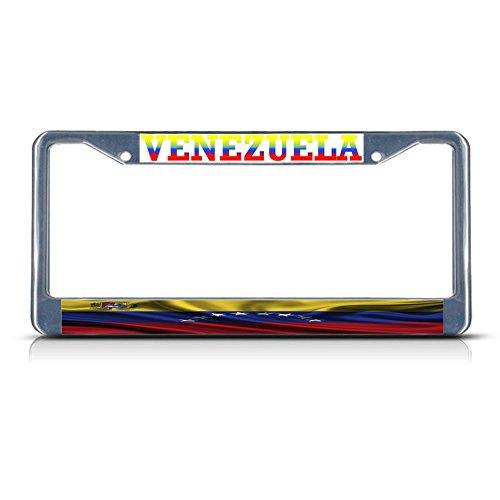 l-Kennzeichenrahmen, gewellt, mit 2 Löchern, ideal für Herren und Damen, Auto-Garadge ()
