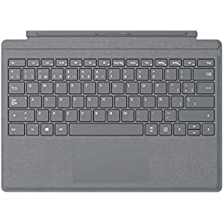 1 de Microsoft Signature Type Cover para Surface Pro, Platino, QWERTY español