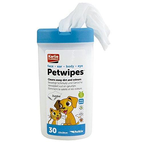 30 feuchte Pflegetücher geeignet zur Reinigung von Ohren, Augen, Gesicht und Körper von Hund und Katze